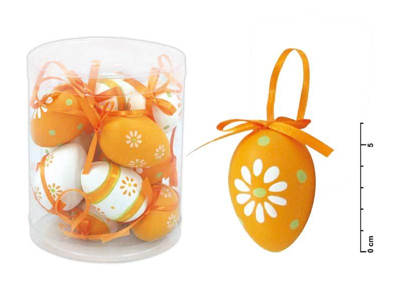 Vajíčka plast 6cm/12ks mix oranžové S34019O