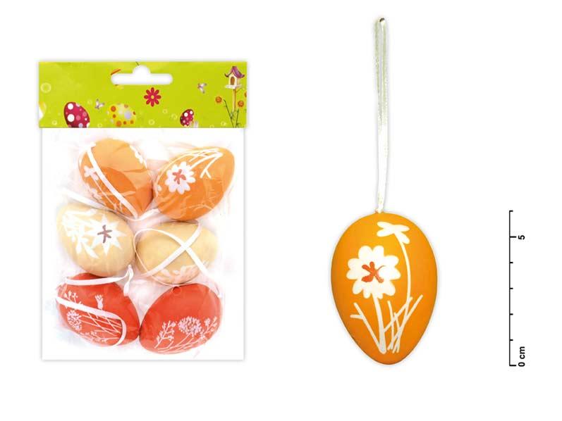Vajíčka plast 6cm/6ks mix S150153/A