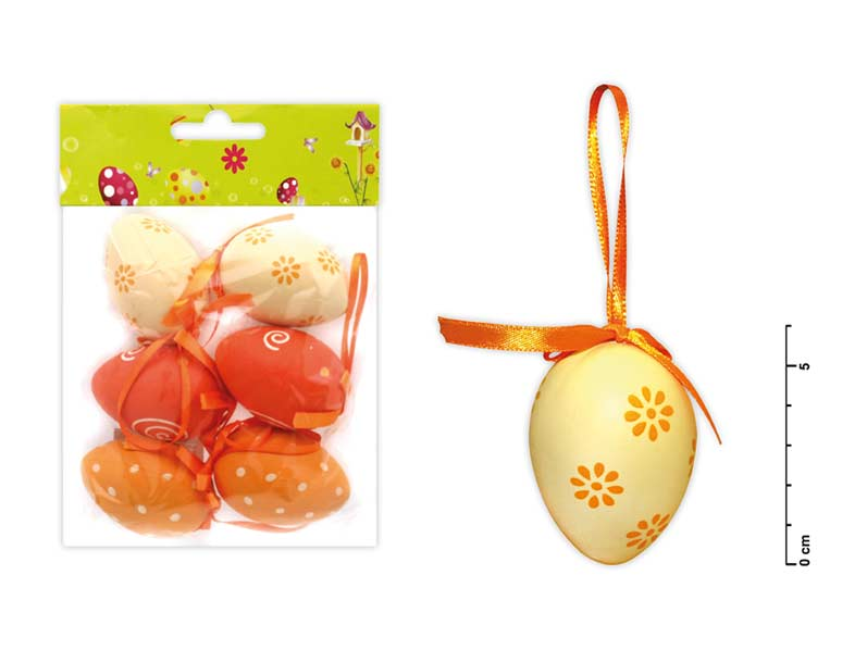 vajíčka plast 6cm/6ks mix S150067/O 2221121