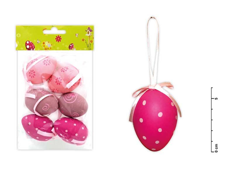 Vajíčka plast 6cm/6ks mix S150067/R