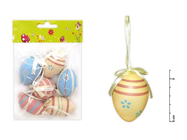 Vajíčka plast 6cm/6ks mix S150087/d