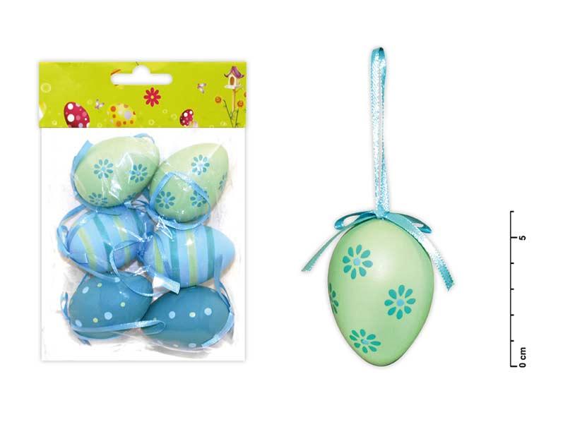 vajíčka plast 6cm/6ks mix S150041/b 2221127
