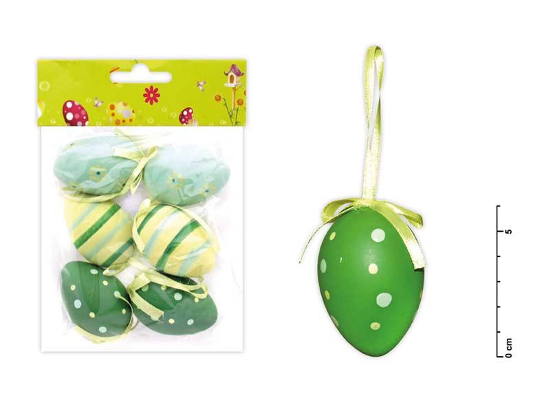 vajíčka plast 6cm/6ks mix S150041/G 2221128