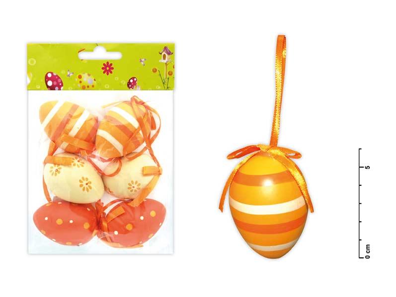 Vajíčka plast 6cm/6ks mix S150041/O