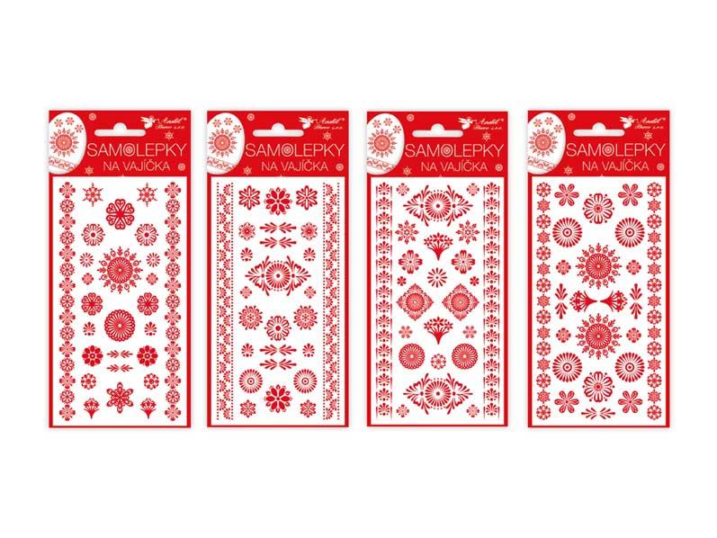 Veľkonočné samolepky na vajíčka 833 gelové červené 19 x 9cm