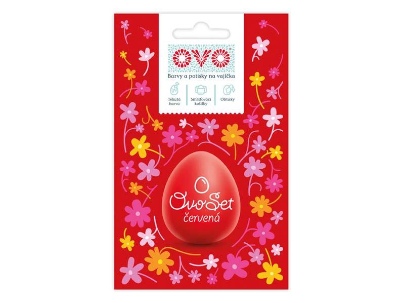 Veľkonočné farby na vajíčka OVO Set červený+košielky