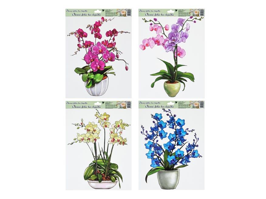 Fólia okenná 887 orchidej 42x30cm