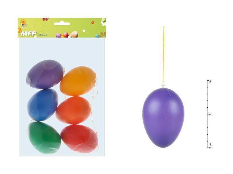 vajíčka plast 9cm/6ks mix colors S160343 2221181