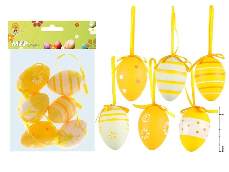 vajíčka plast 6cm/6ks S160026Y 2221189