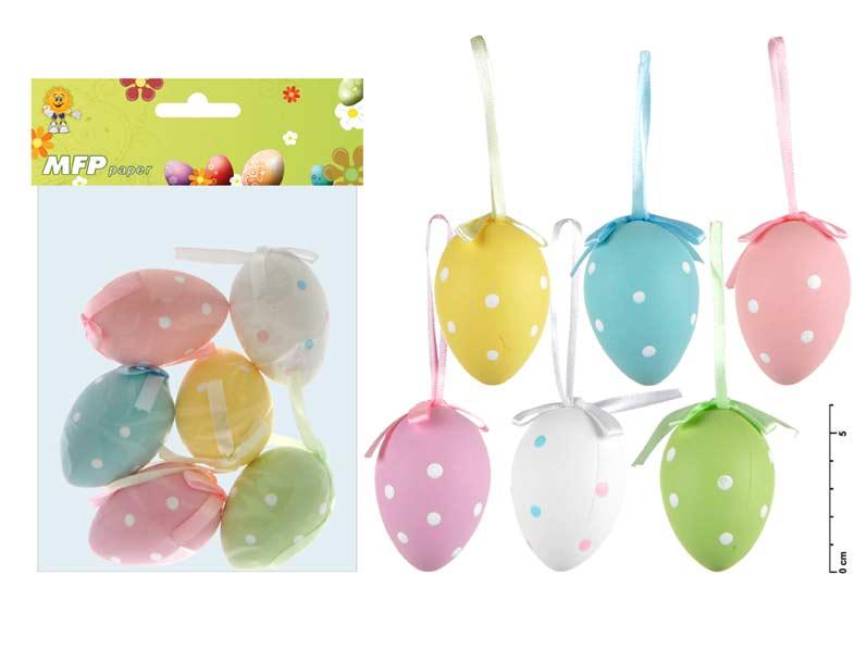 vajíčka plast 6cm/6ks S160096 2221190
