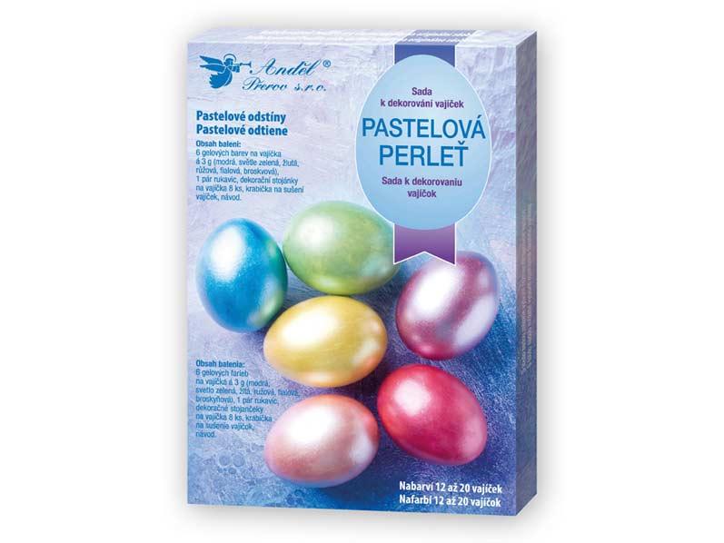 Sada 7701 na dekorovanie vajíčok - pastelová perleť