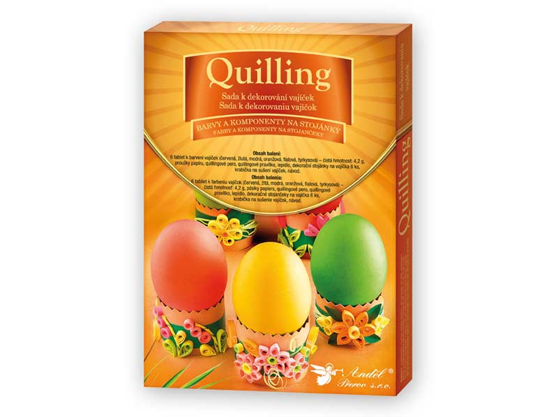 Sada 7703 na dekorovanie vajíčok - quilling