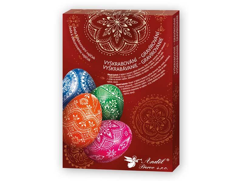 Sada 7704 na dekorovanie vajíčok - vyškrabovanie