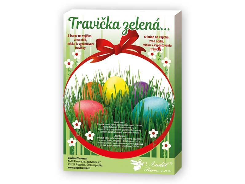 Sada 7711 na dekorovanie vajíčok - trávička zelená
