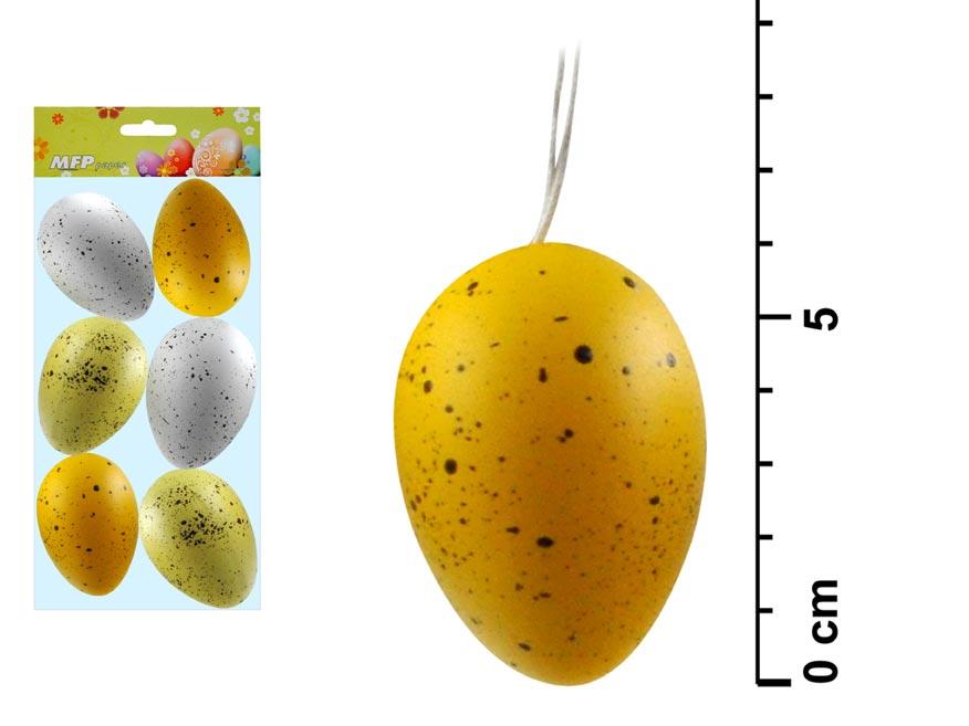 MFP 2221244 vajíčka plast 6cm/6ks S170041E
