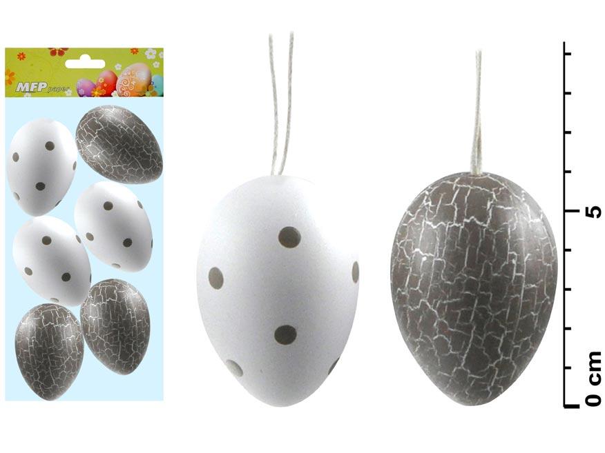 vajíčka plast 6cm/6ks S170188A- 1 2221248