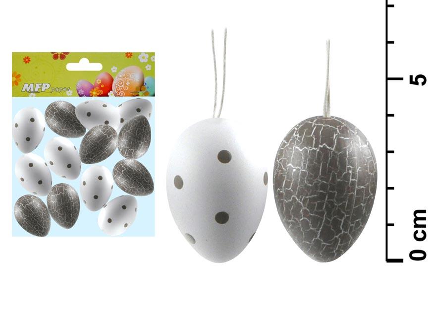 Vajíčka plast 4cm/12ks S1700188A