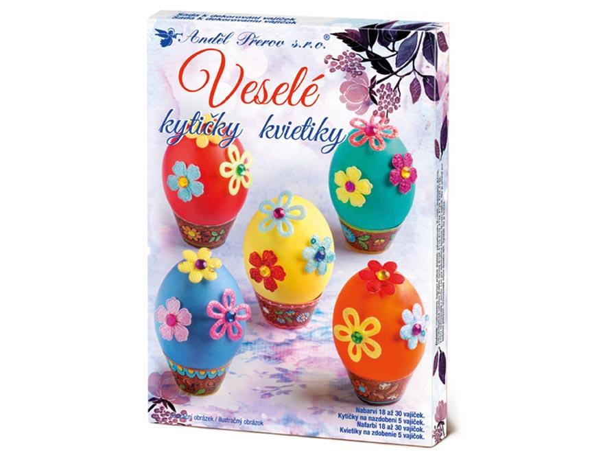 Sada 7722 na dekorovanie vajíčok - veselé kytičky