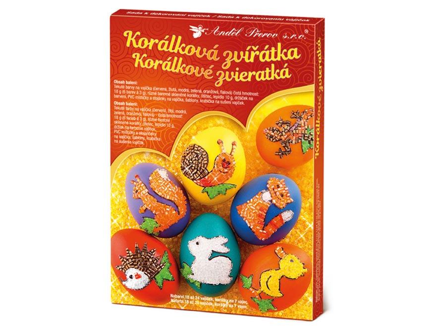 Sada 7727 na dekorovanie vajíčok - gorálkové zvieratká