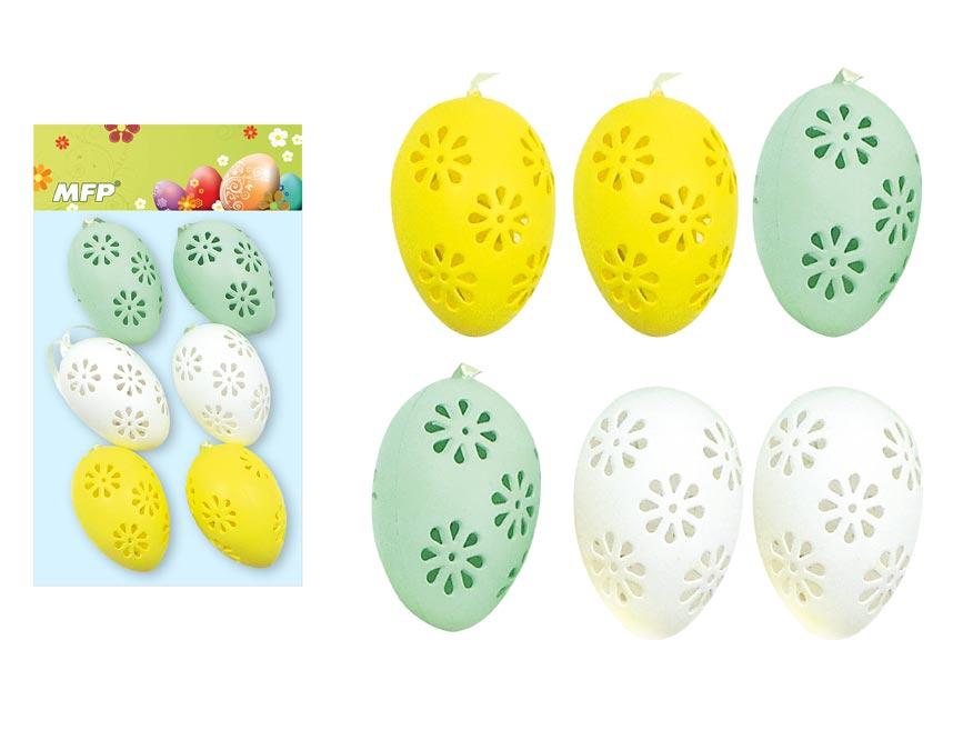 Vajíčka plast 6cm/6ks mix S180259G
