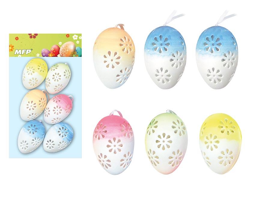 Vajíčka plast 6cm/6ks mix S180260