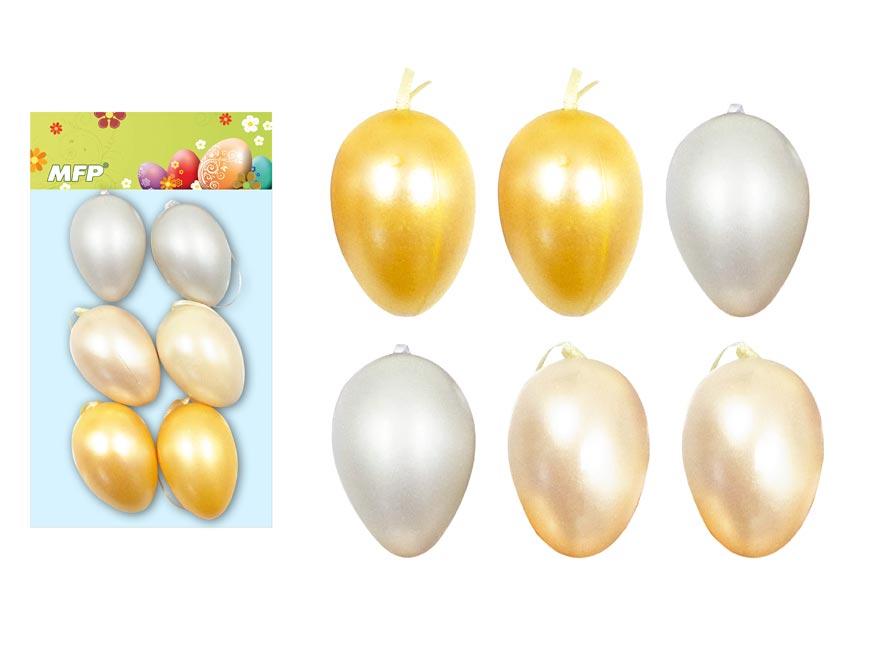 Vajíčka plast 6cm/6ks mix S180167
