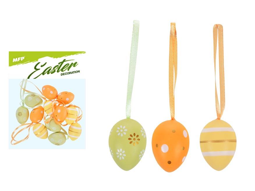 vajíčka plast 4cm/12ks mix S190099-ORA 2221406