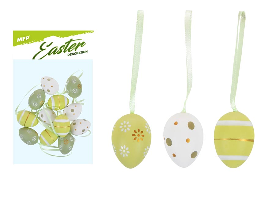 vajíčka plast 4cm/12ks mix S190099-GRE 2221407