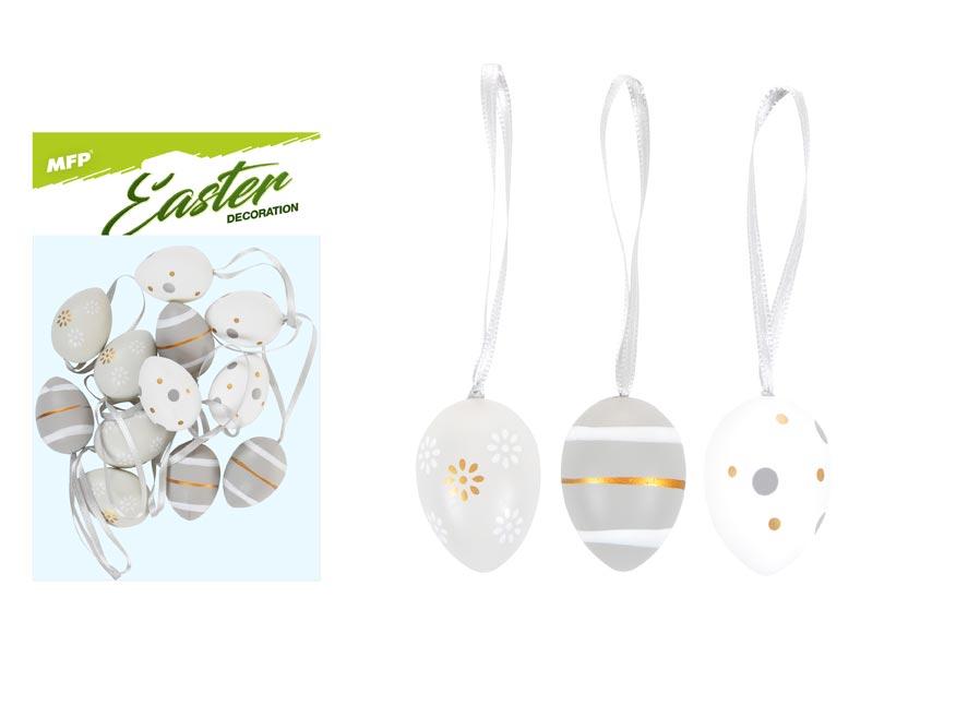 vajíčka plast 4cm/12ks mix S190099-GRA 2221408