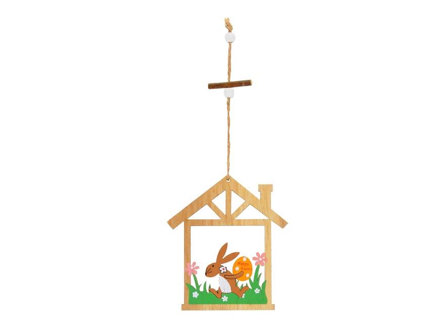 drevená dekorácia zajac s vajíčkom 10cm XC20190628 2221412