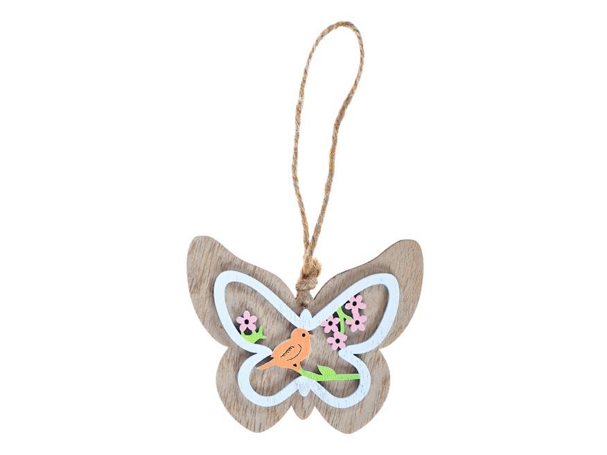 motýľ drevo záves 3D 10cm