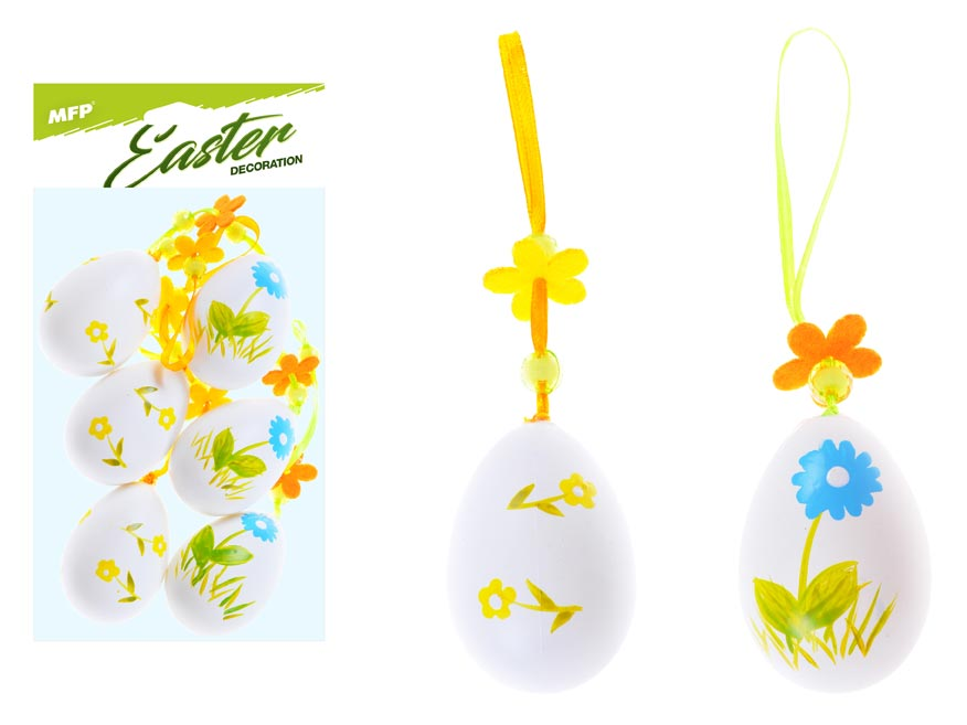 vajíčka plast 6cm/6ks potlač 617 2221429