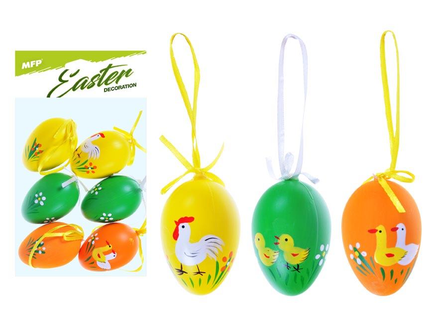 vajíčka plast 6cm/6ks potlač 629 2221432