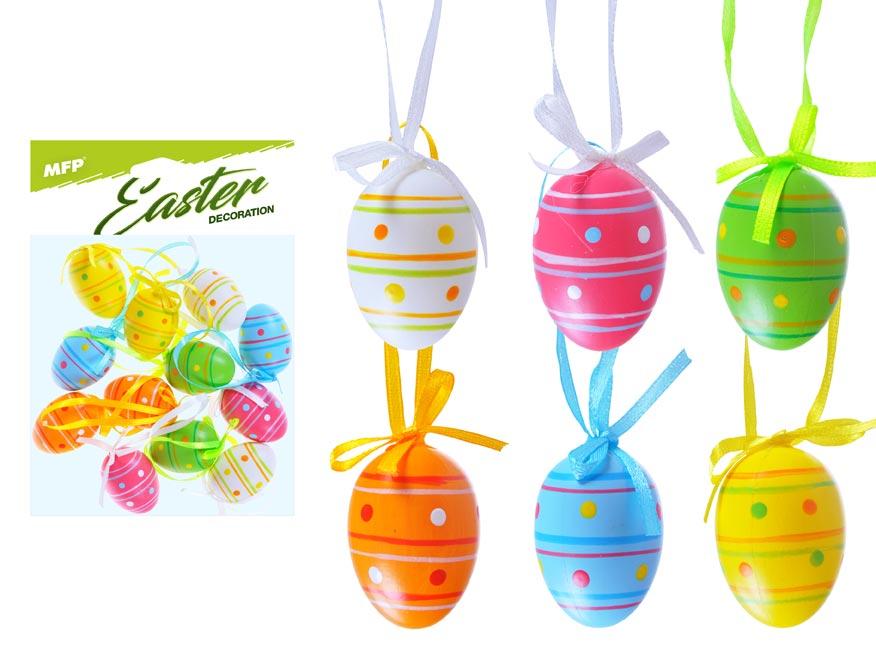 vajíčka plast 4cm/12ks potlač. 411 2221436