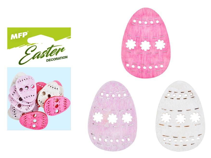 dekorácia vajce farebné  12ks 4cm mix 2221439