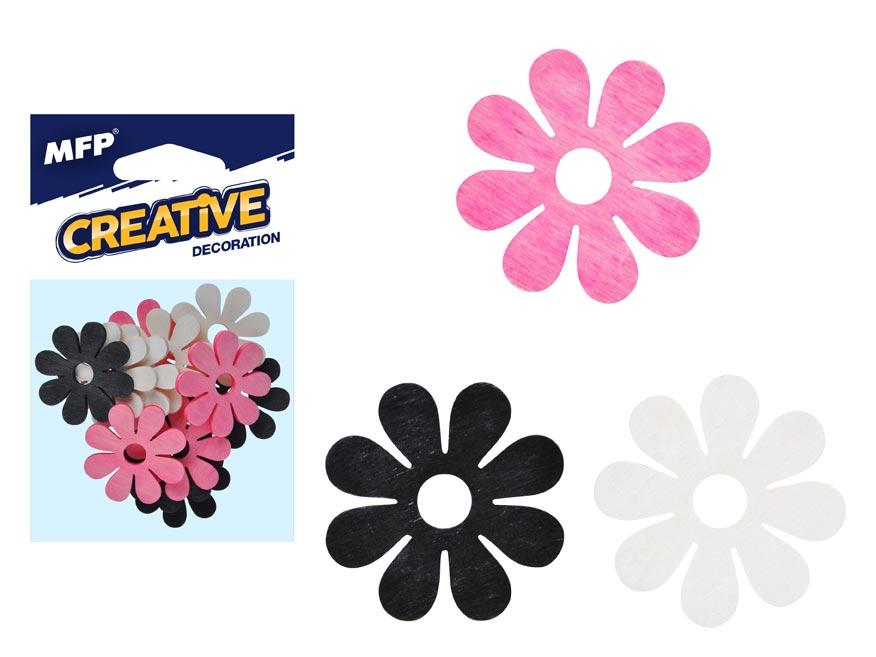 Dekorácia kvet farebný 12ks 4cm mix