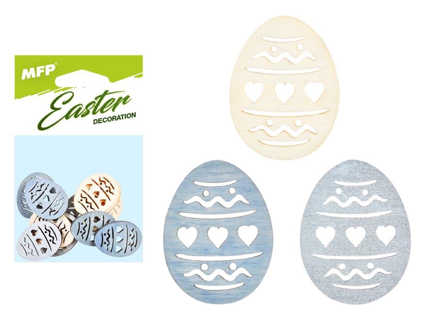 dekorácia vajce prírodné 12ks 4cm mix 2221452
