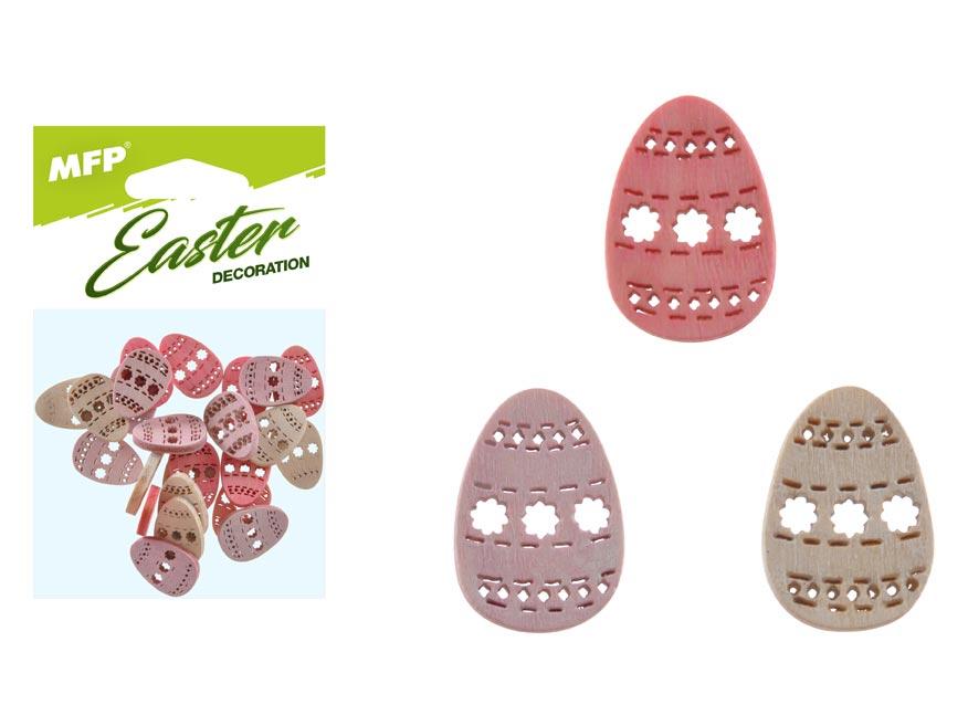 dekorácia vajce farebné 24ks 2cm mix 2221454