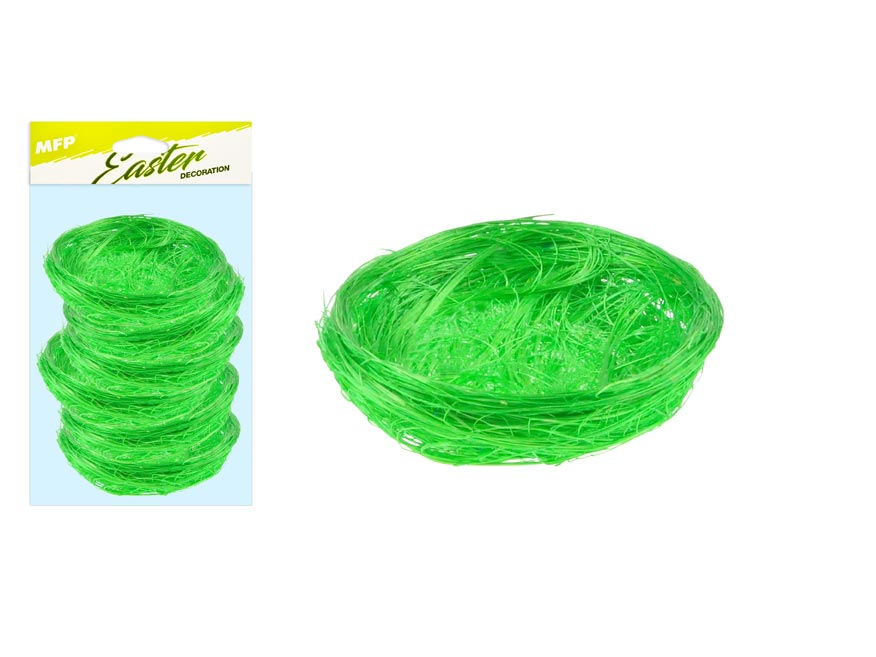 Hniezdo sisal 5cm 6ks - zelené