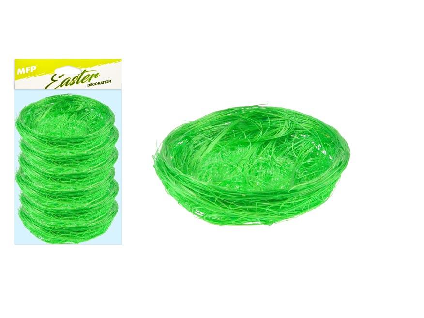 hniezdo sisal 7cm 6ks - zelené 2221461