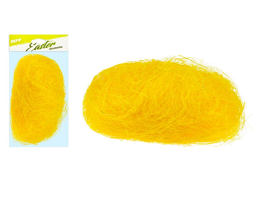 Dekoračný sisal 20g žltý