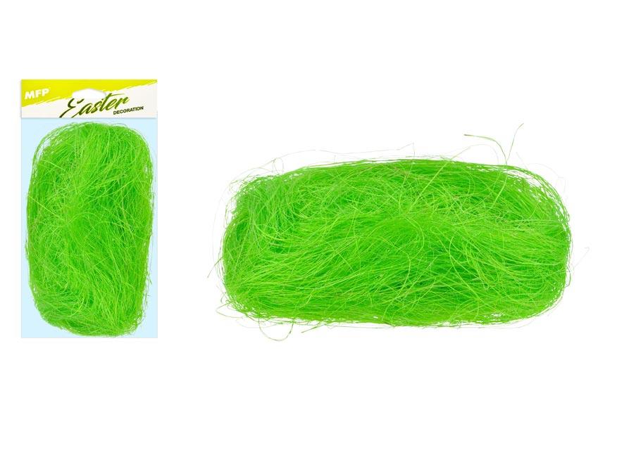 Dekoračný sisal 20g svetlo zelený