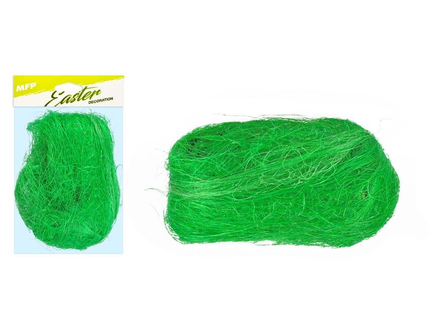 Dekoračný sisal 20g tmavo zelený