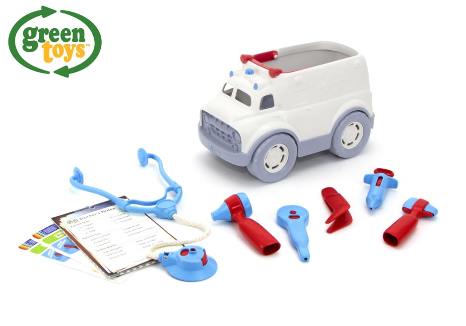 Green Toys Ambulancia s lekárskymi pomôckami W009285