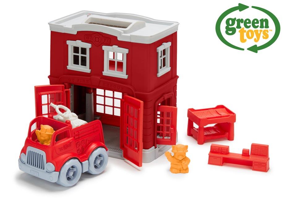 Green Toys Hasičská stanica s autíčkom W009294