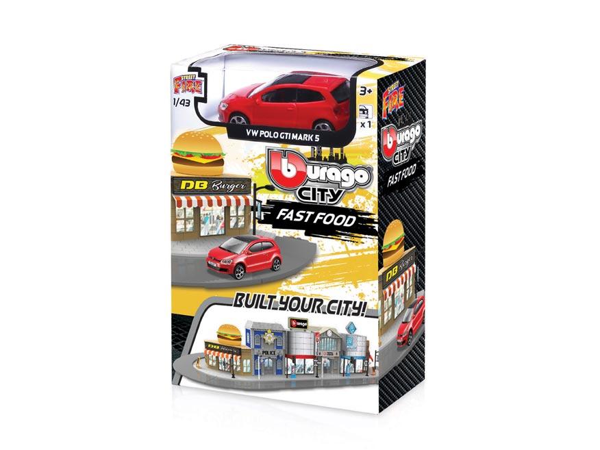 Bburago city 1:43 18-31504 Fast food W010102