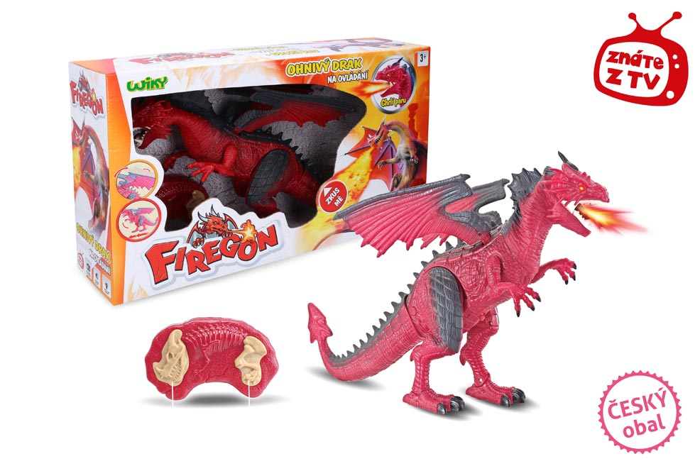 Firegon (ohnivý drak) s efektami RC 45cm W001601