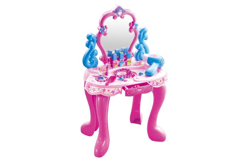 Kozmetický stolček s doplnkami (bez stoličky) W114554