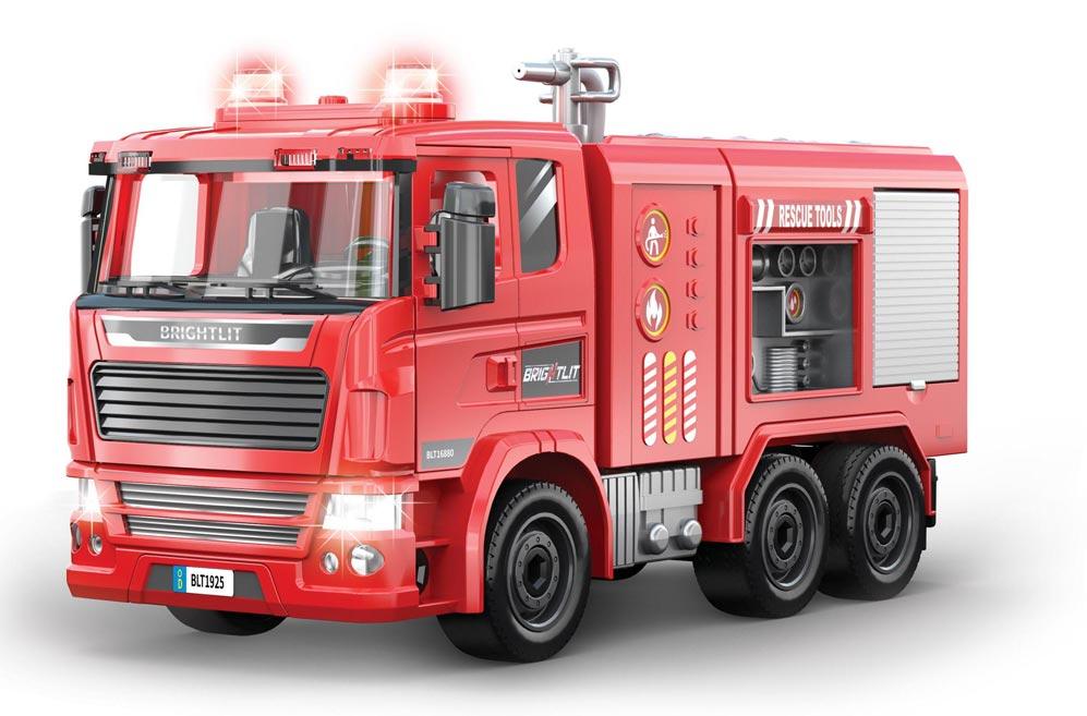 Auto hasičské s delom - skladací model 36cm W008879