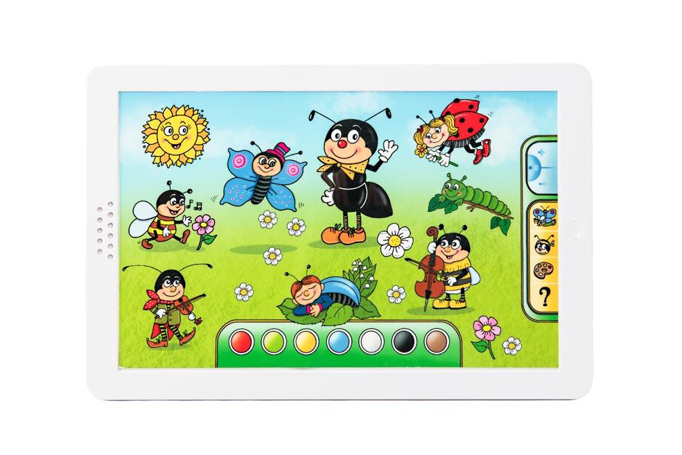 Mravčekov tablet plast 30x20x2cm na batérie so zvukom v krabici 38x28x4,5cm